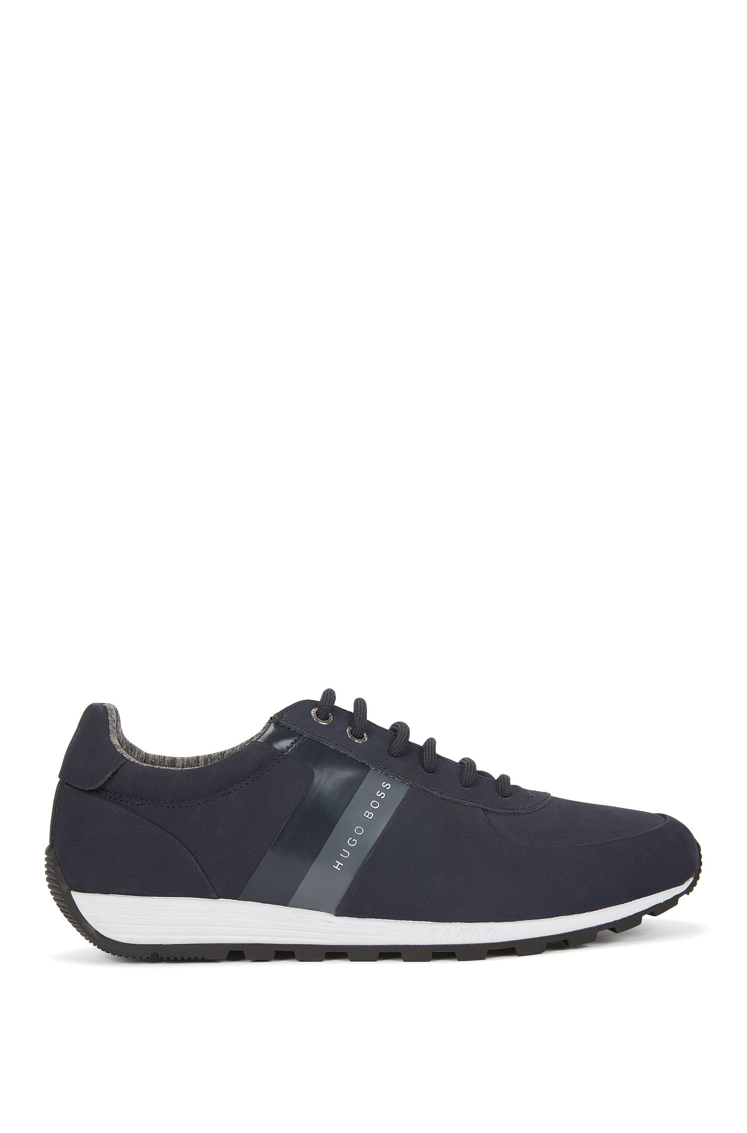 Low-top retro trainers in soft nubuck