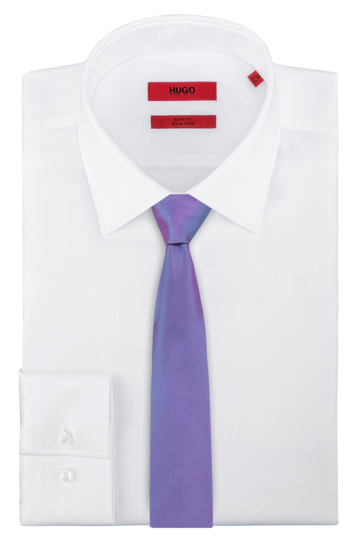 Straight-cut tie in pure silk, Purple