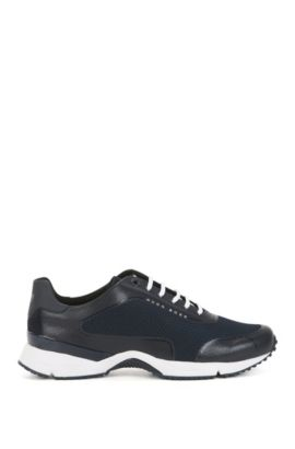 Mesh trainers with thermo-bonded details, Dark Blue