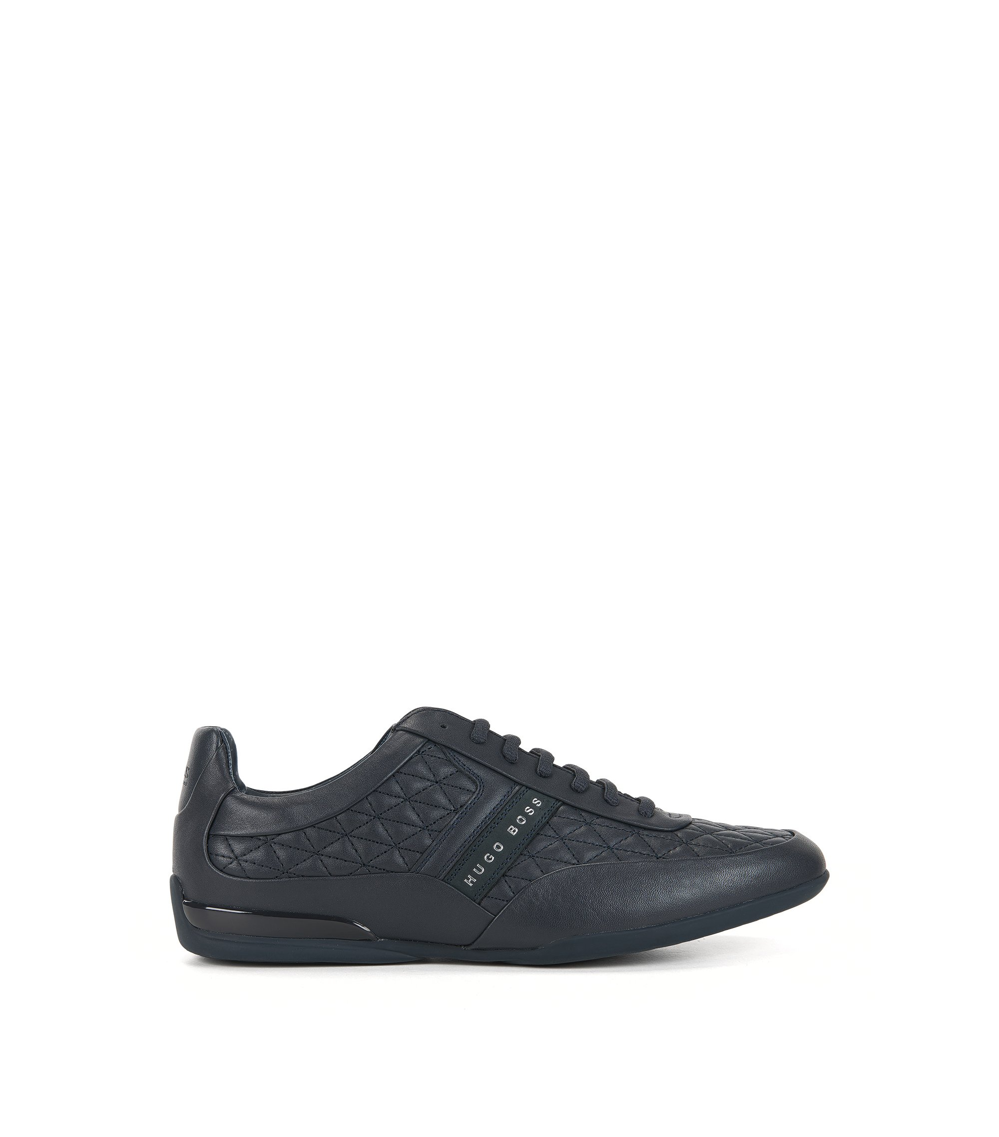 Sneakers aus edlem Leder, Dunkelblau
