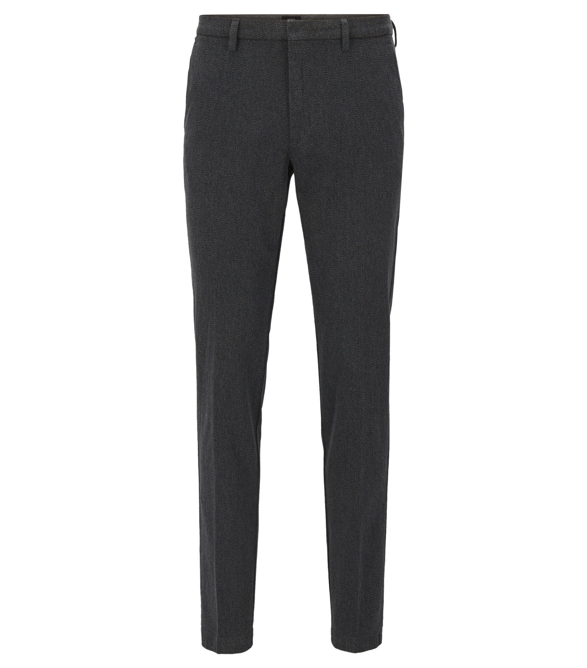 Pantalon Slim Fit en coton stretch italien, Gris sombre