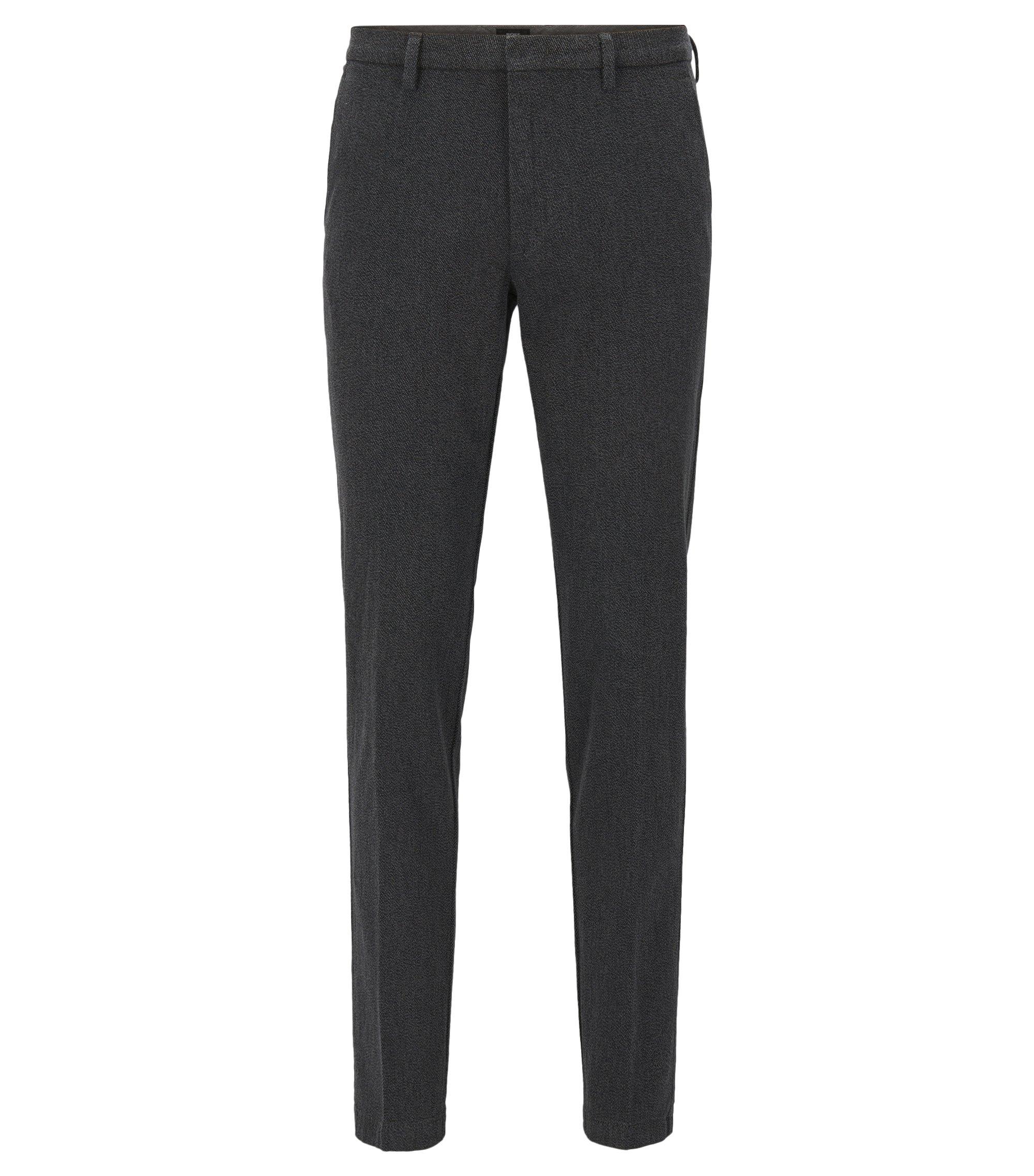 Slim-fit broek van Italiaanse stretchkatoen, Donkergrijs