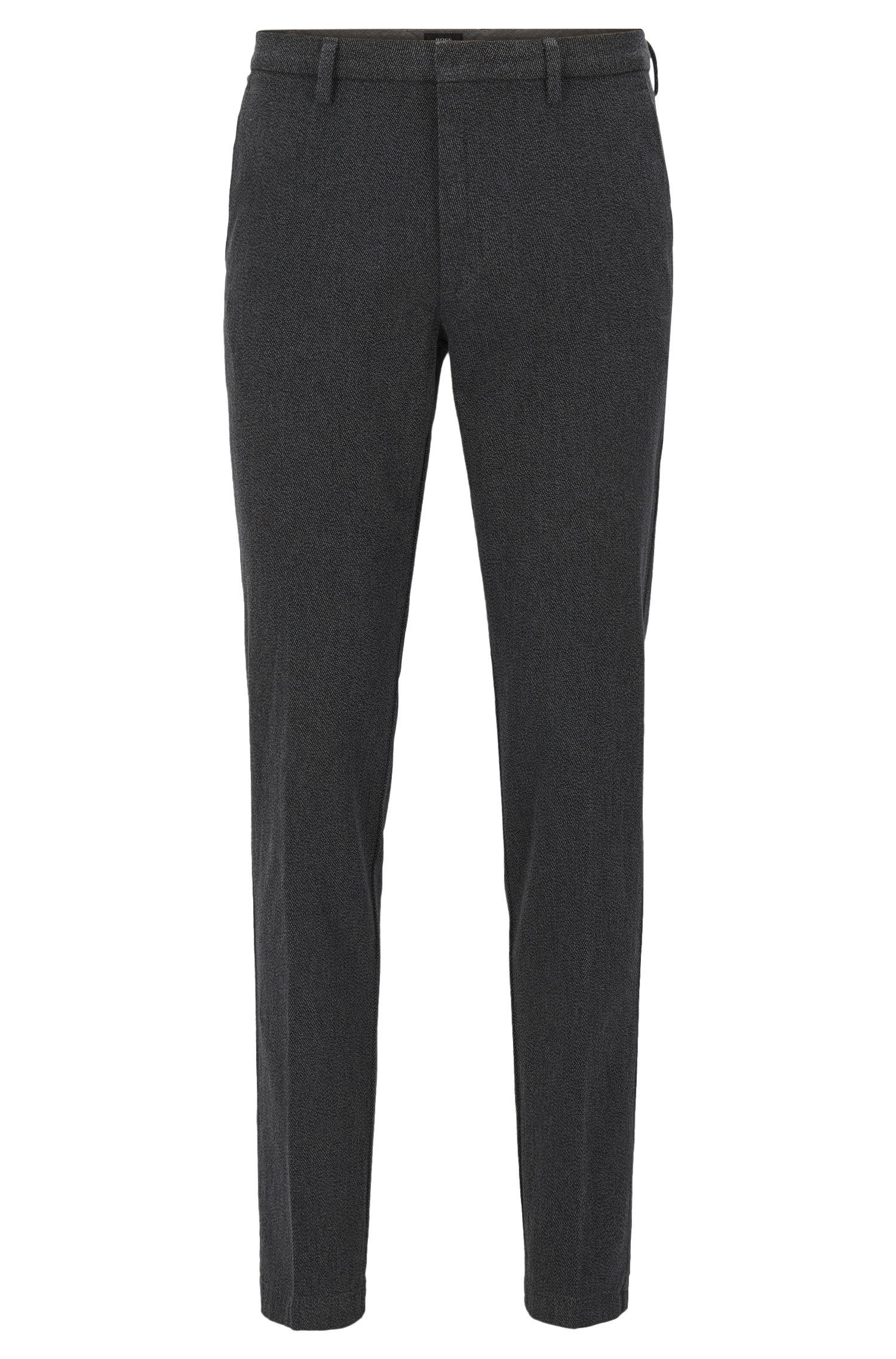 Slim-fit broek van Italiaanse stretchkatoen