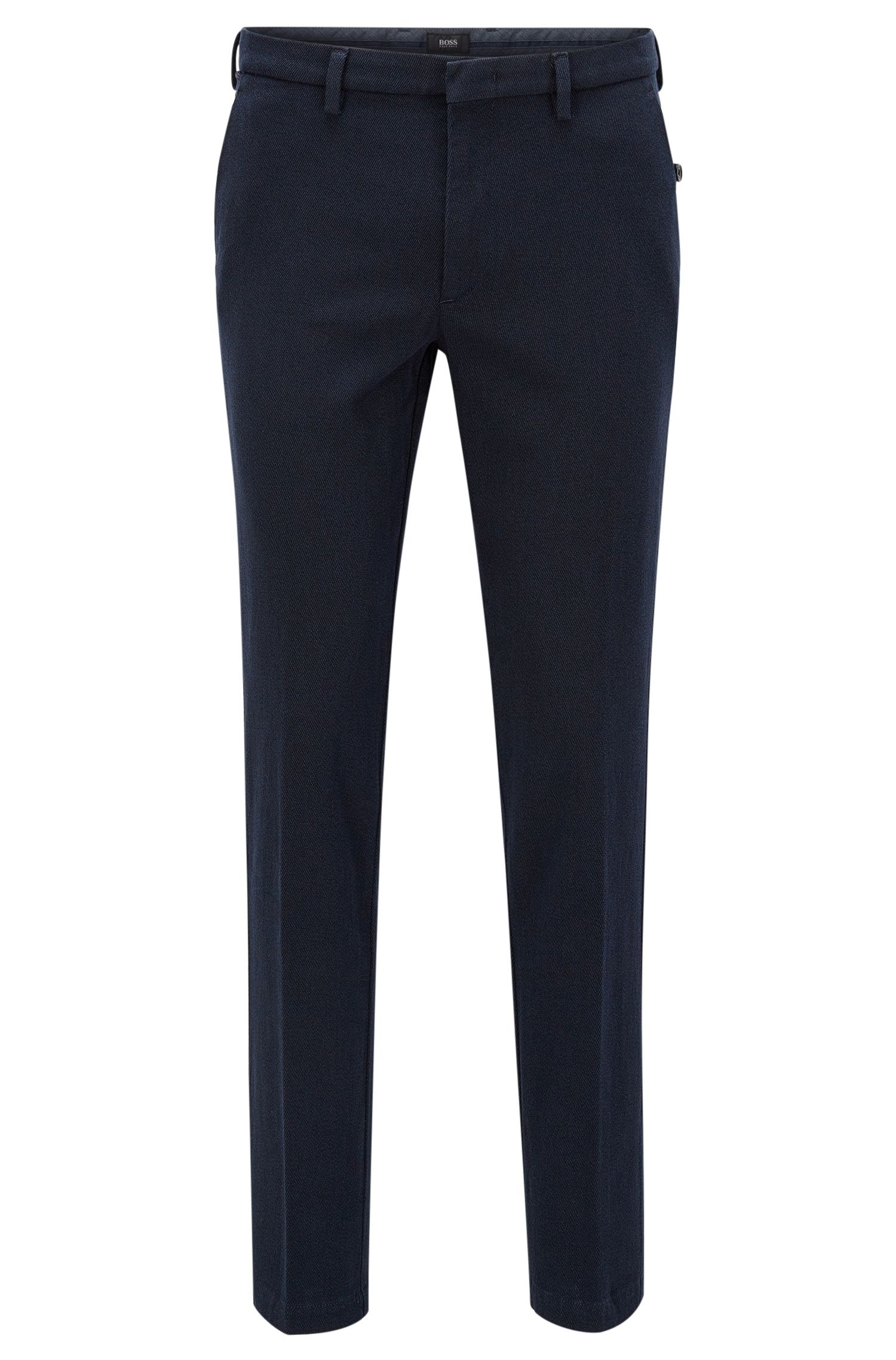 Pantalon Slim Fit en coton stretch italien