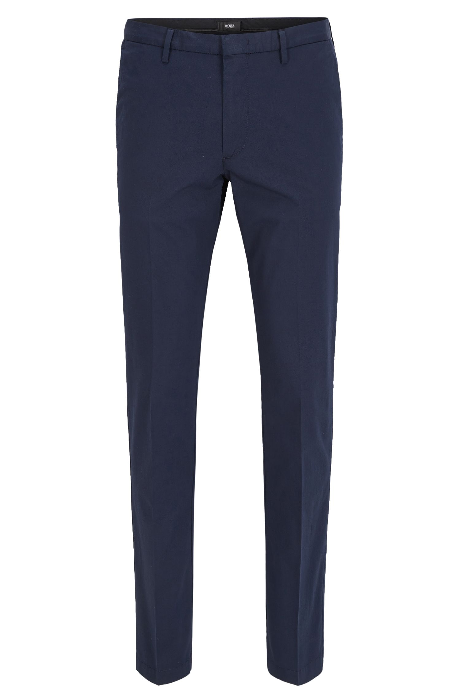 Slim-fit trousers in mercerised stretch twill