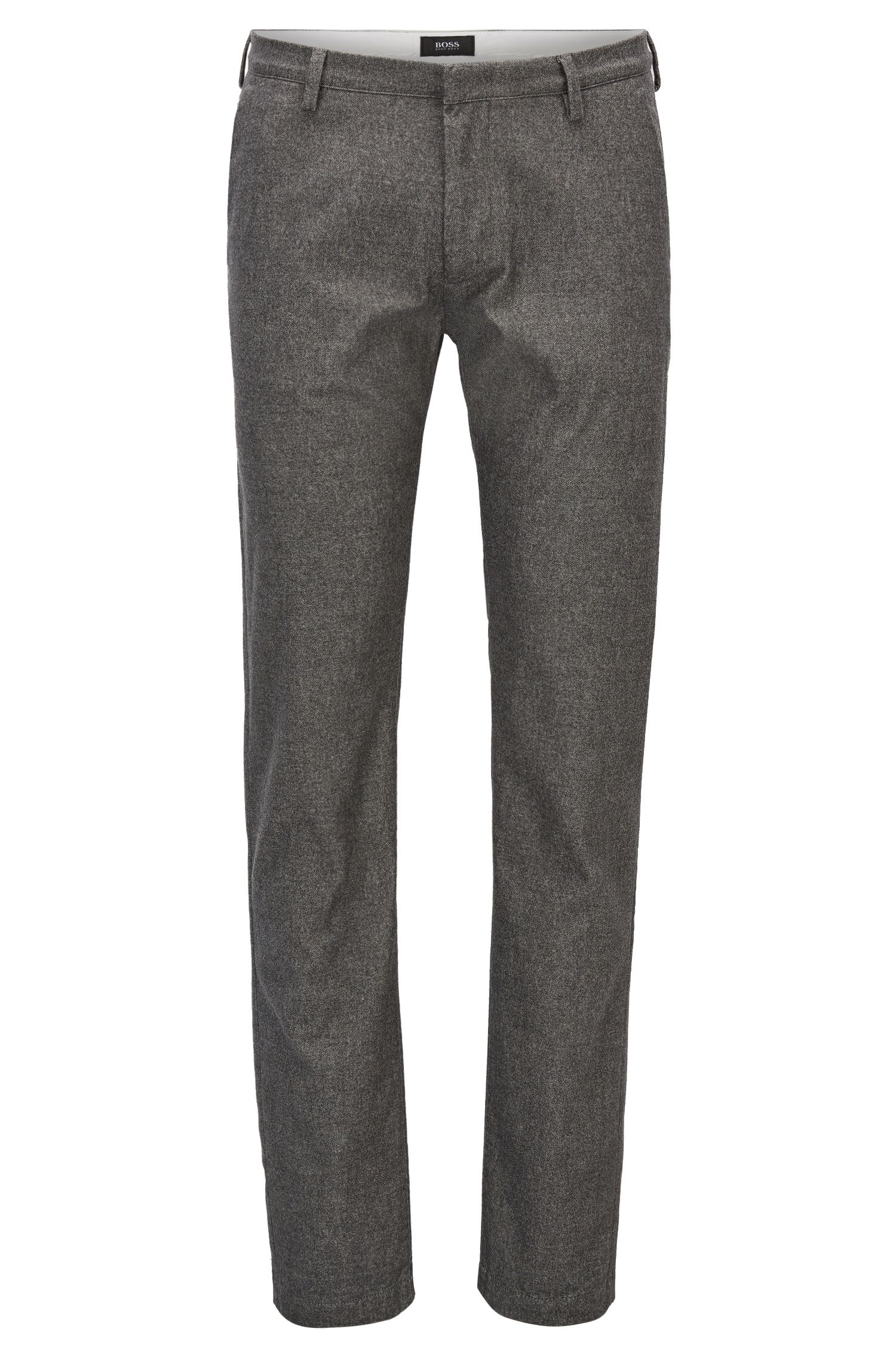 Slim-fit chino van stretchmateriaal