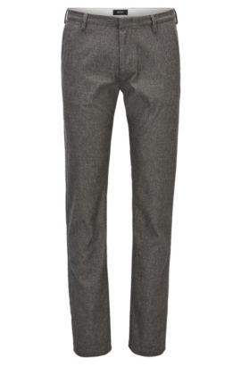 Slim-fit chinos in stretch fabric, Dark Grey