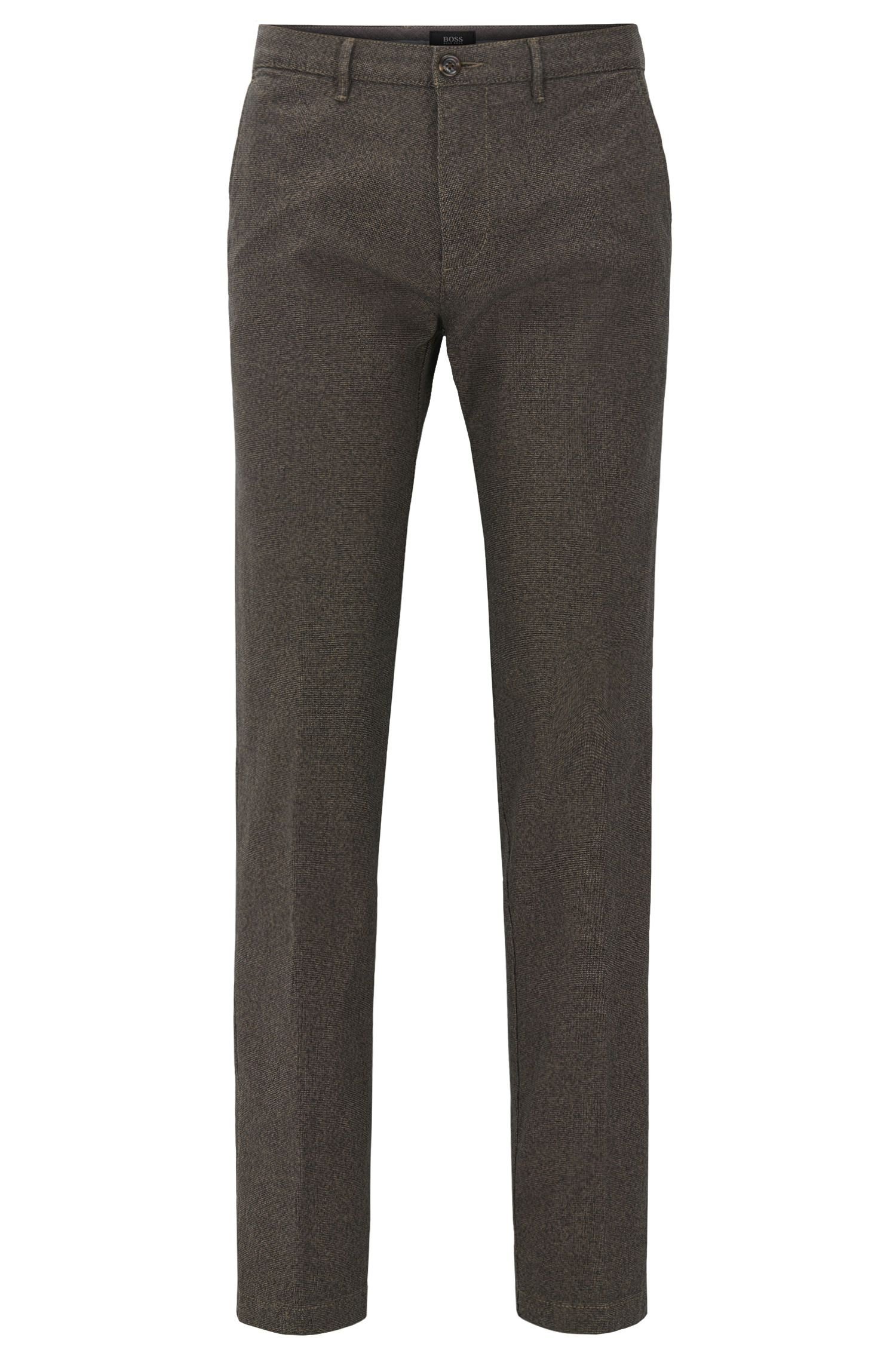 Chino regular fit in cotone elasticizzato italiano policromo
