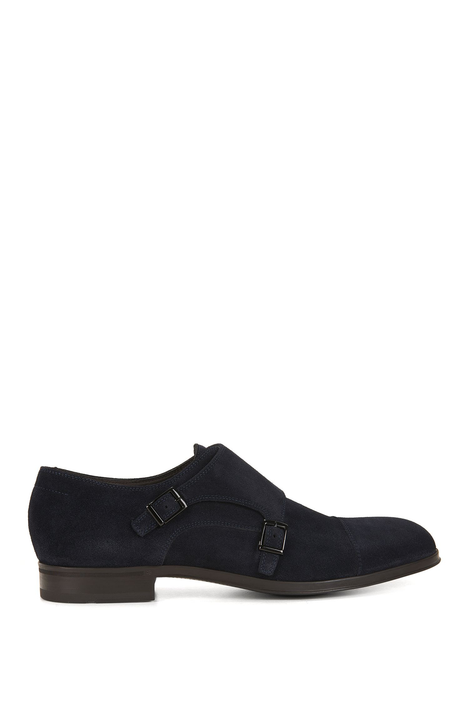 Monk shoes in soft suede