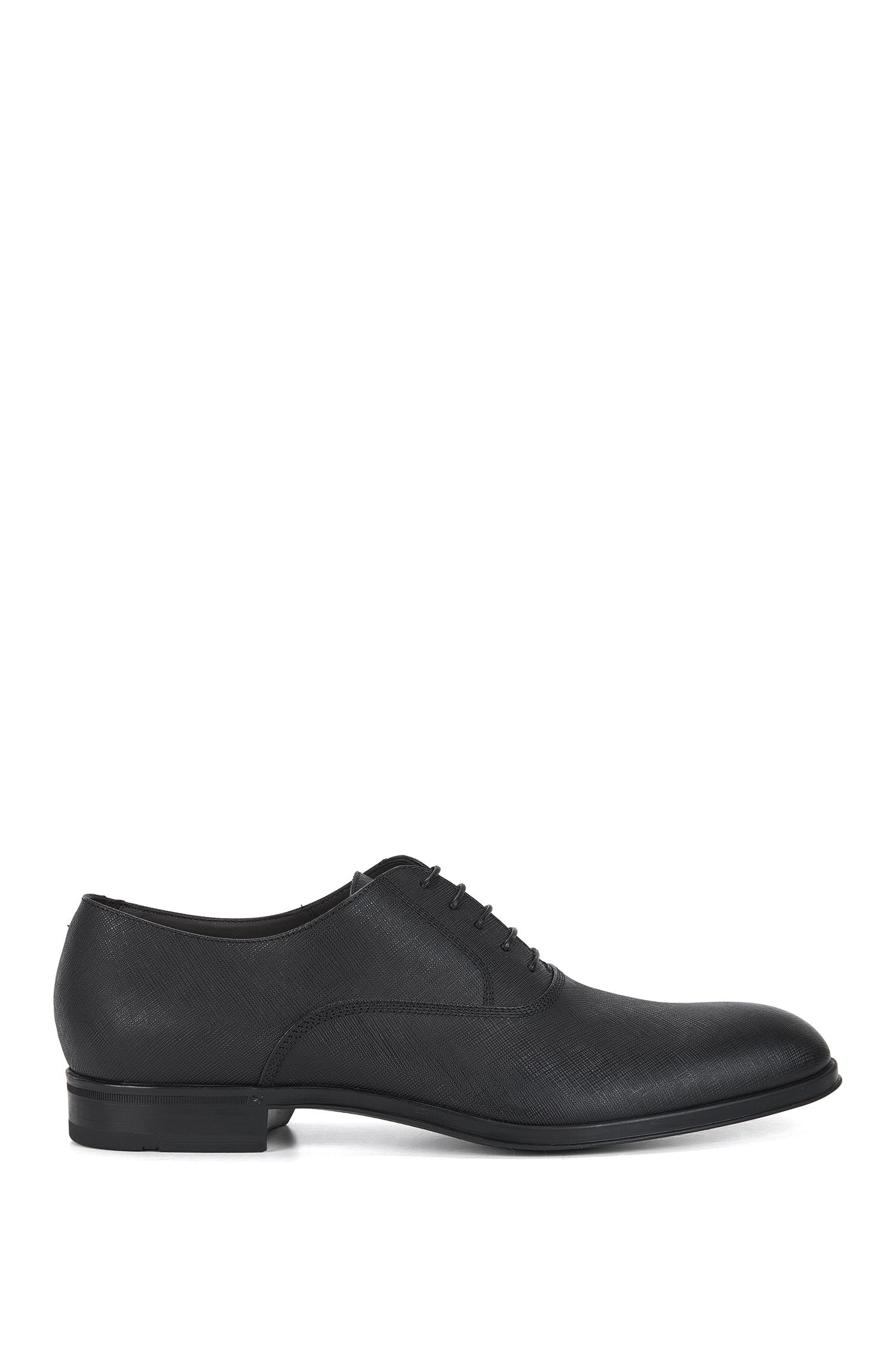 Lace-up Derby shoes in embossed leather