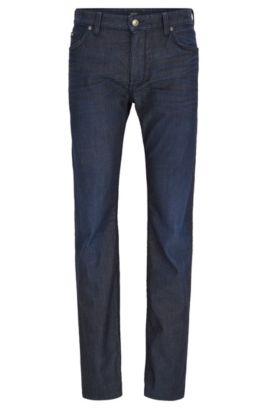 Jeans regular fit in comodo denim elasticizzato, Blu