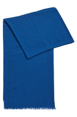 Lightweight scarf in tonal modal, Blue