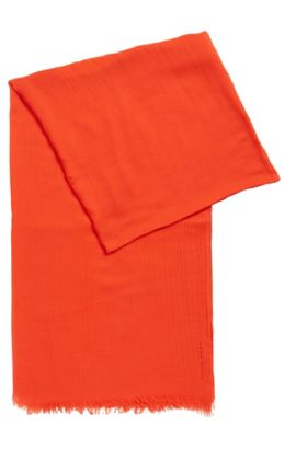 Lightweight scarf in tonal modal, Red