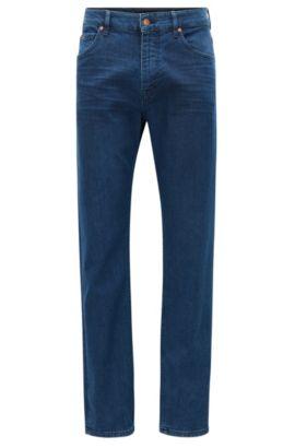 Relaxed-fit jeans in donker indigo van gewassen stretchdenim, Donkerblauw