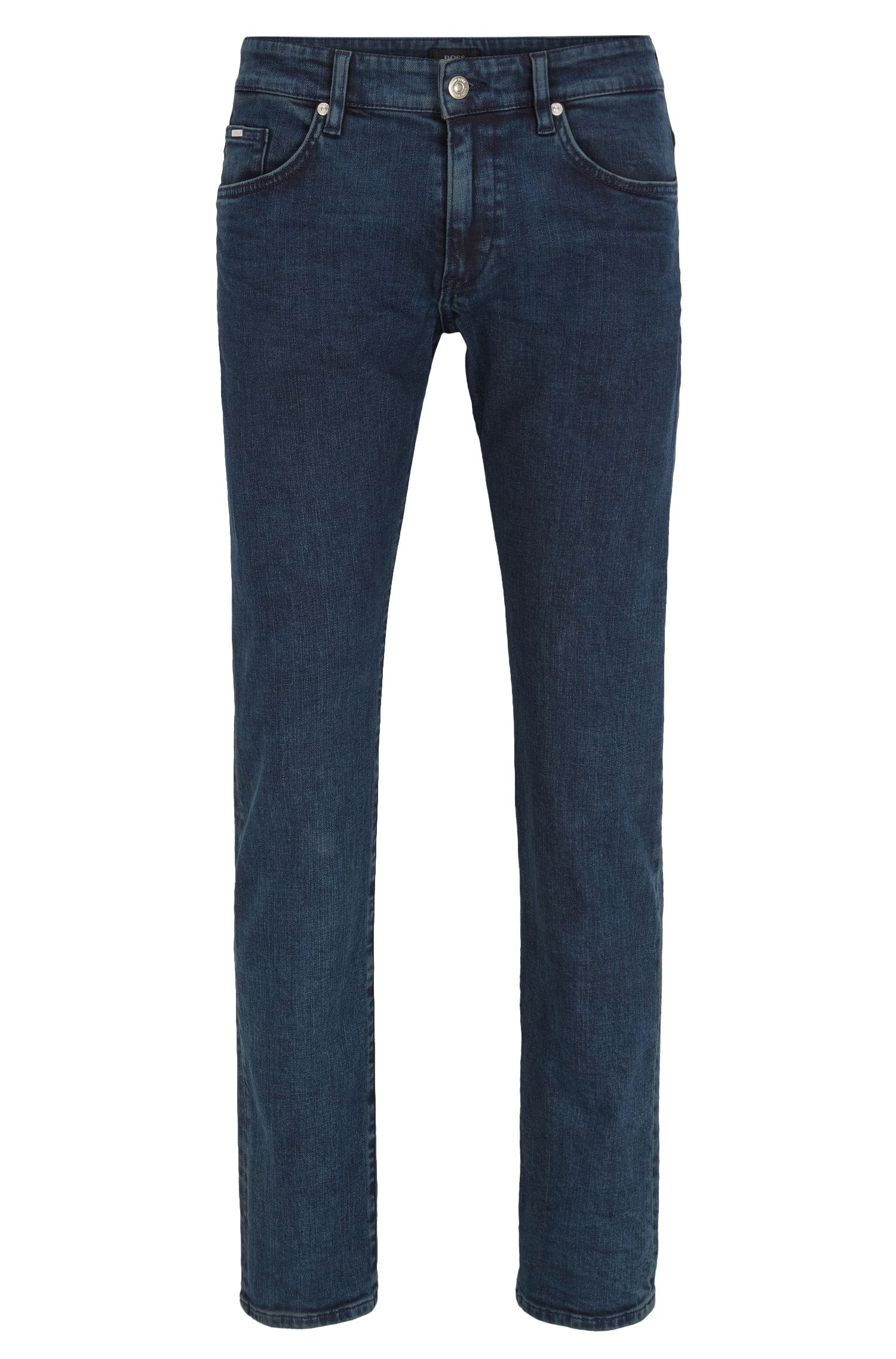 Slim-fit light-wash jeans in stretch denim