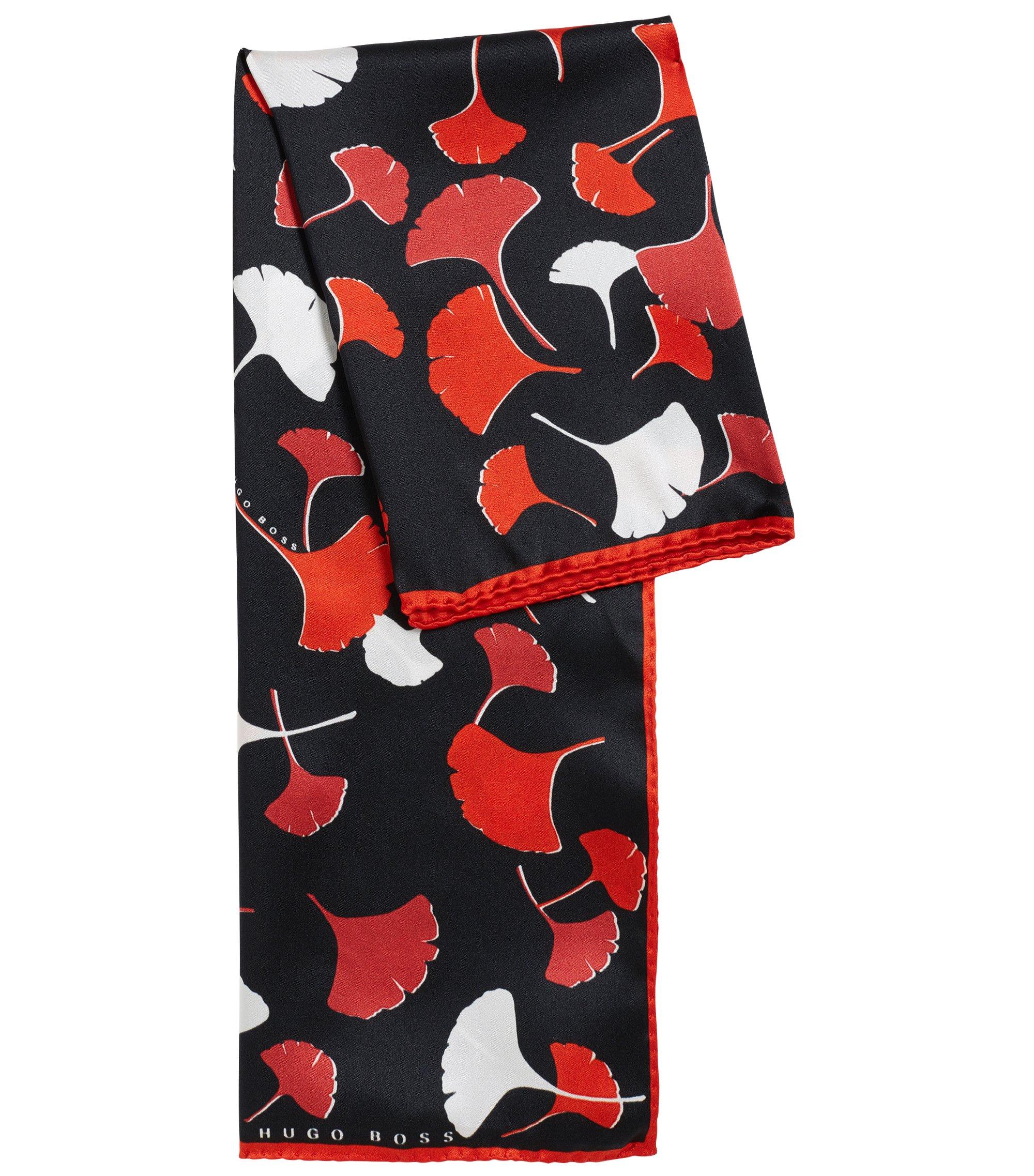 Zijden sjaal met bloemenprint, Bedrukt