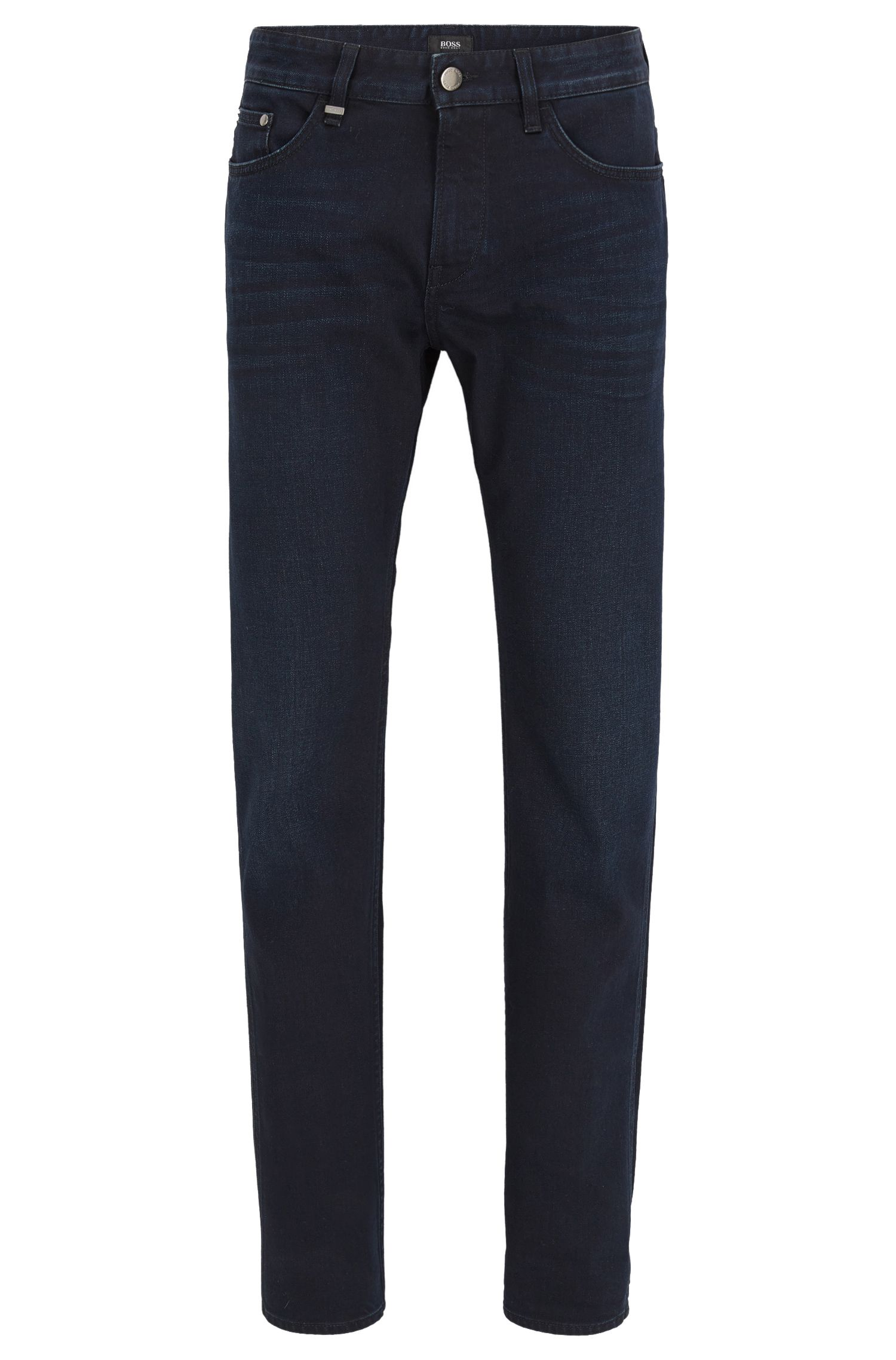 Jeans slim fit in comodo denim blu-nero elasticizzato