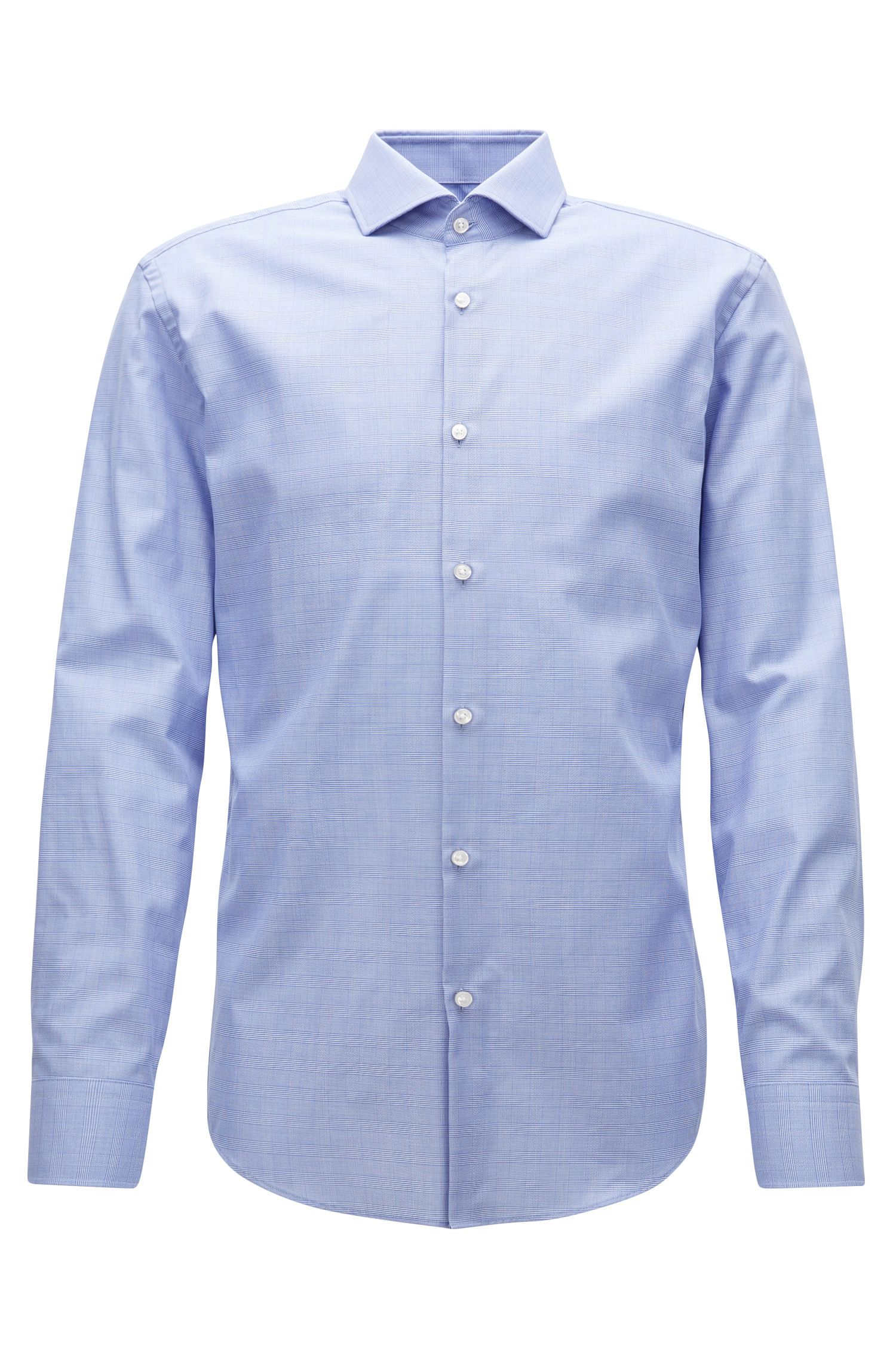 Slim-fit shirt in wrinkle-free Swiss cotton