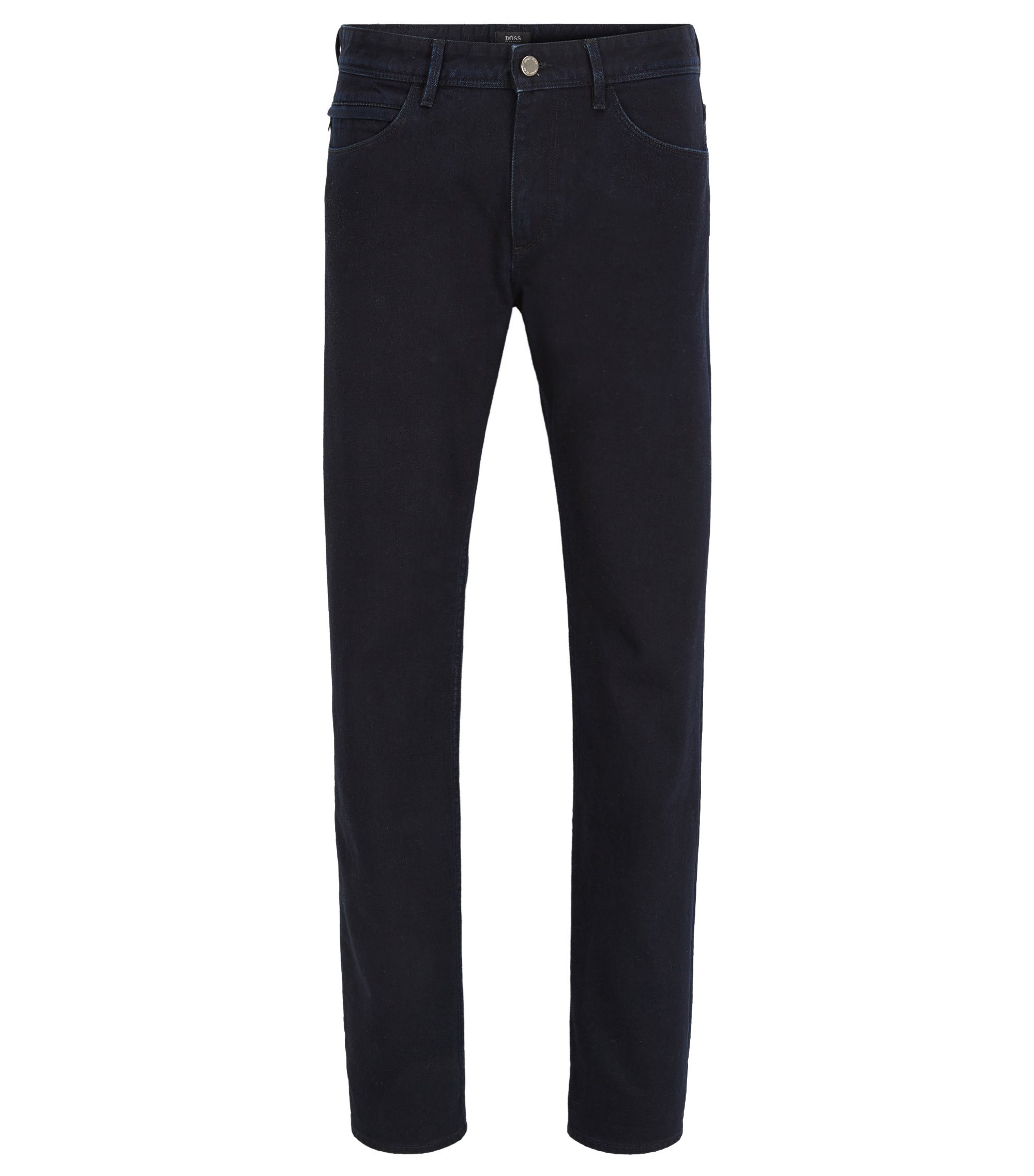 Jeans Slim Fit en denim stretch, de teinte bleu-noir finition Rinsed, Bleu foncé