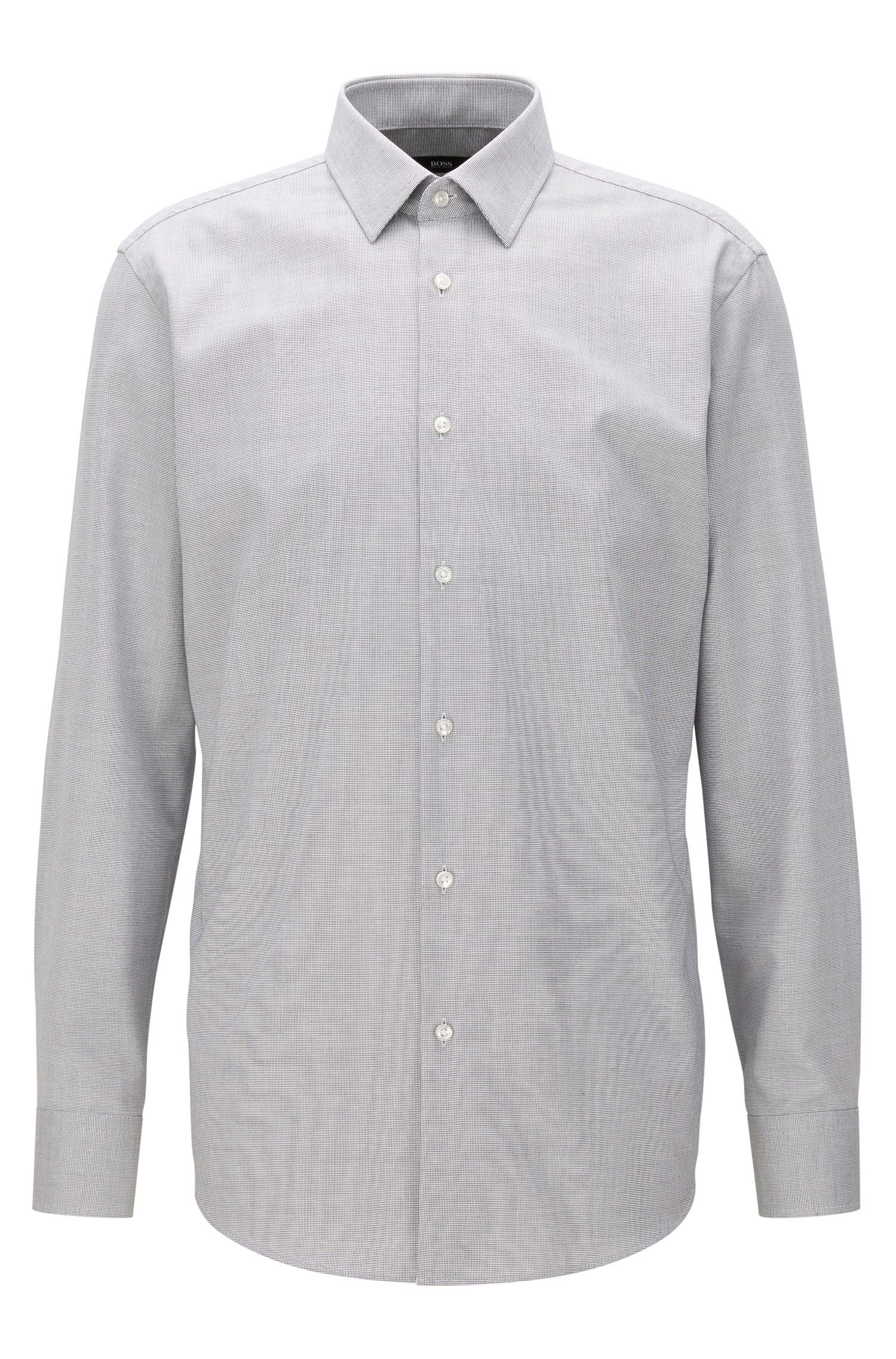 Regular-fit shirt in cotton poplin