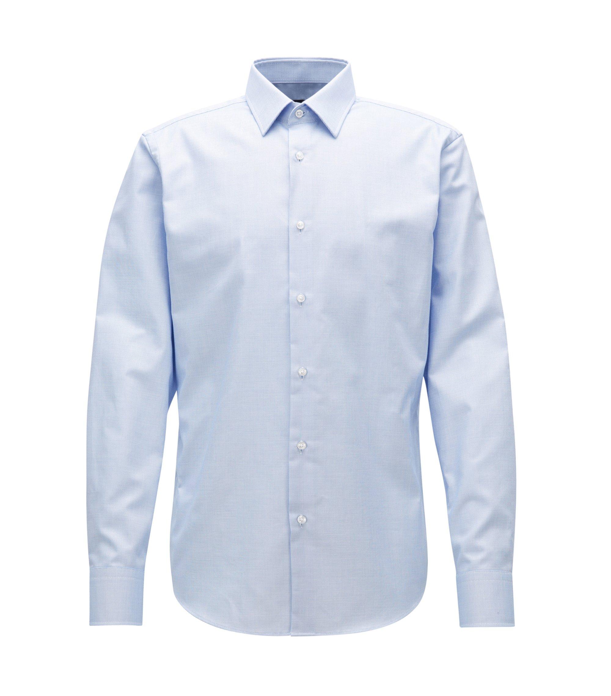 Chemise Regular Fit en popeline de coton, Bleu