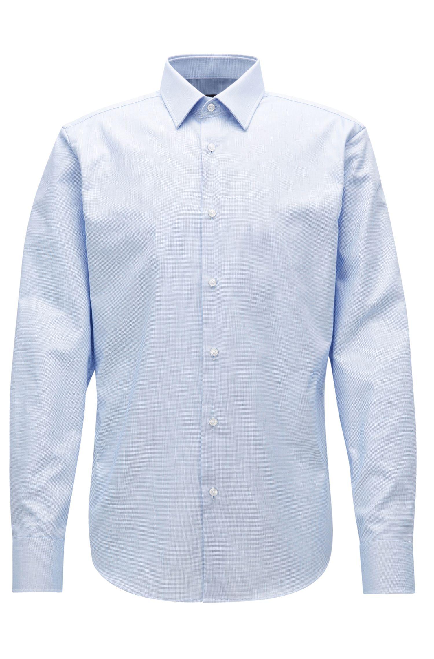 Camicia regular fit in popeline di cotone