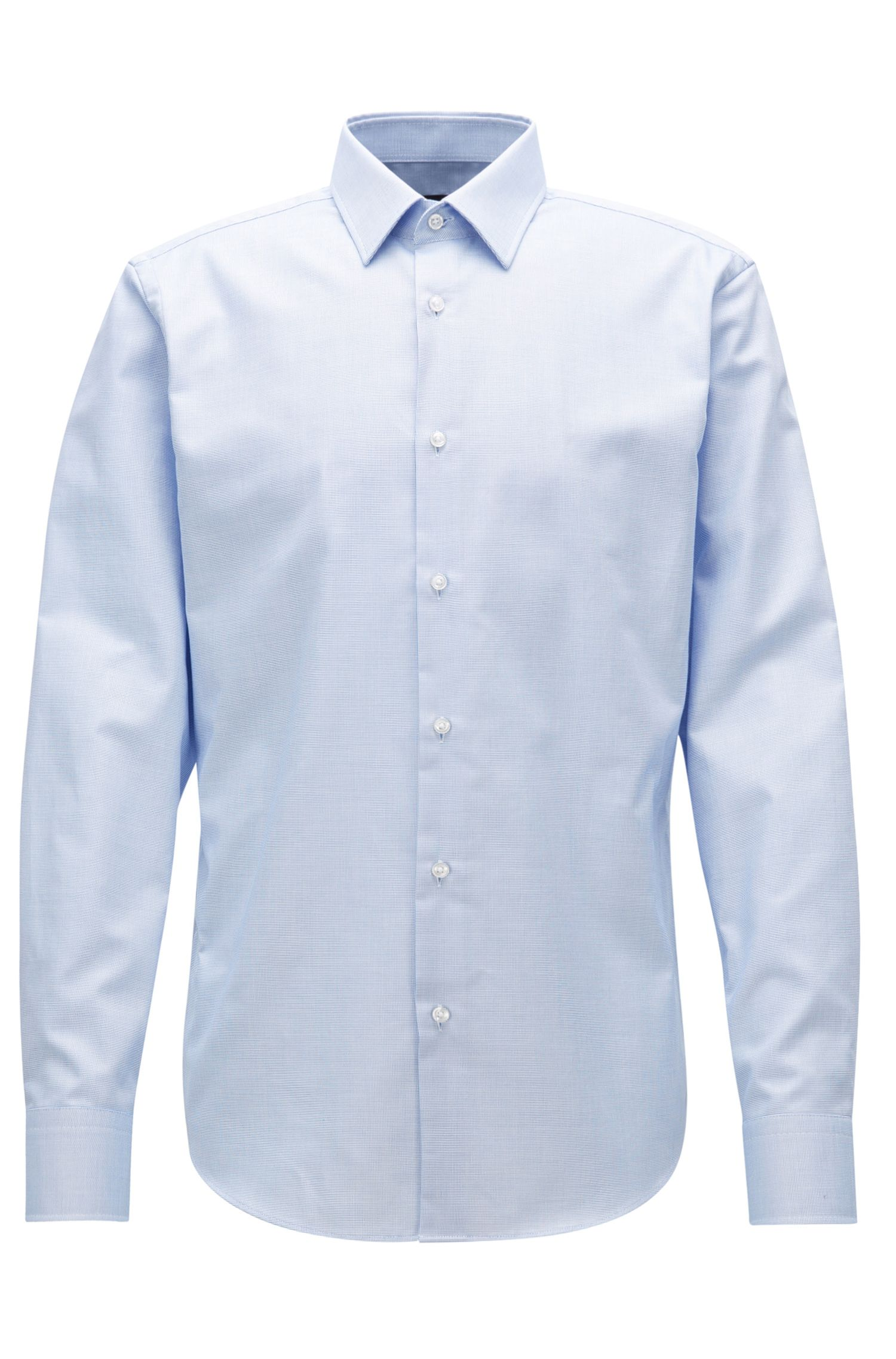 Regular-fit shirt in cotton poplin