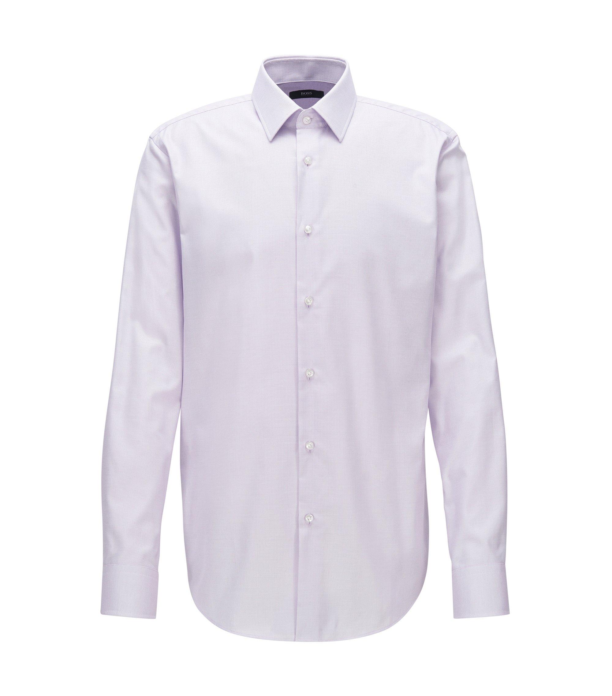 Camisa regular fit en popelín de algodón, Luz púrpura