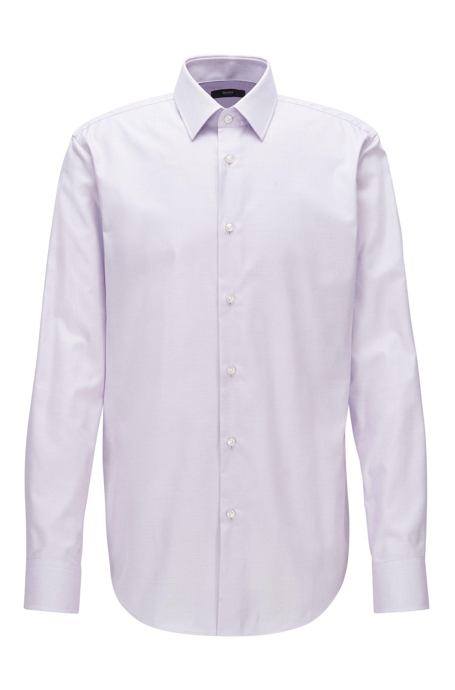 Regular-fit overhemd van katoenen popeline
