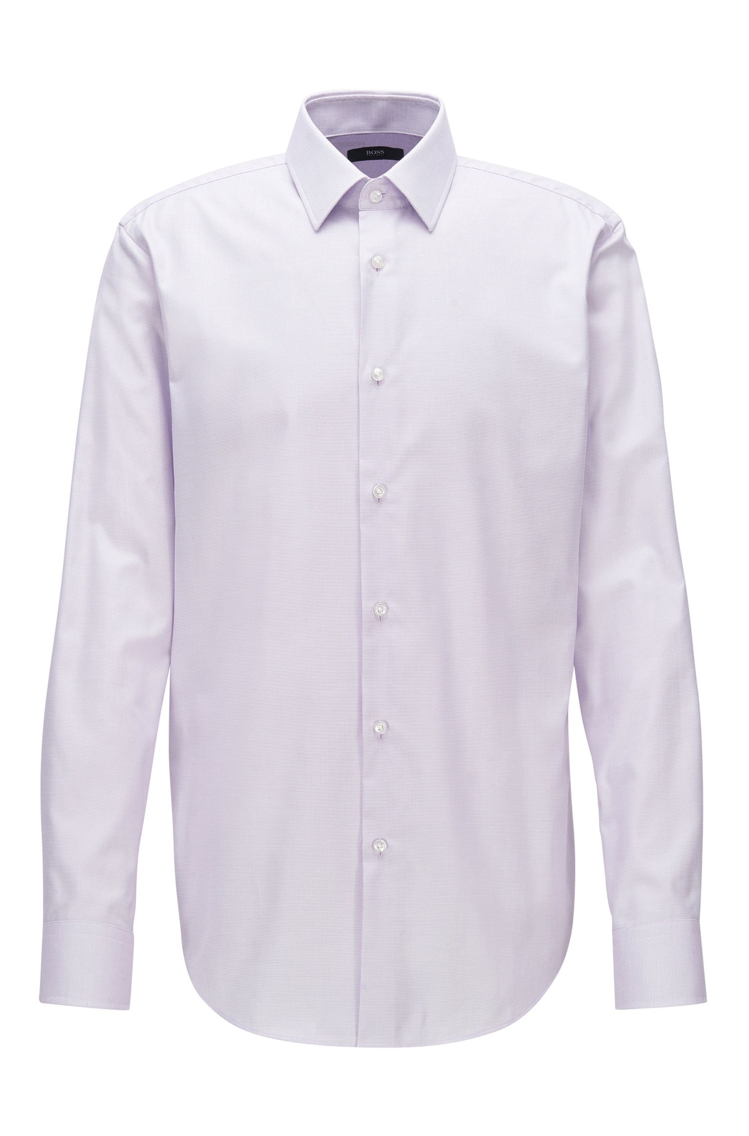 Chemise Regular Fit en popeline de coton