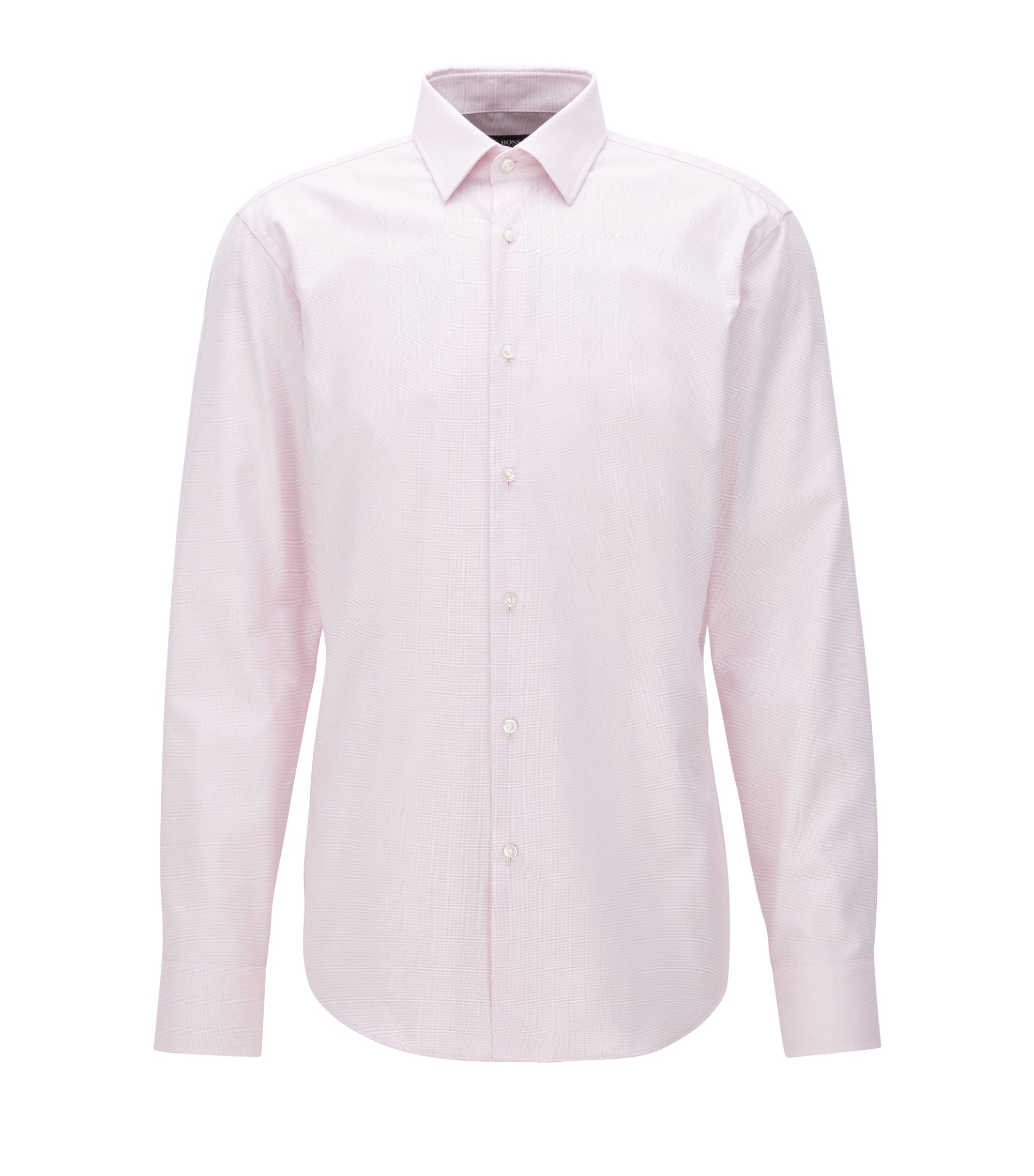 Regular-fit shirt in cotton poplin, light pink