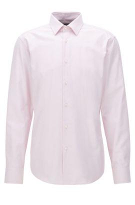 Regular-Fit-Hemd aus Baumwoll-Popeline, Hellrosa