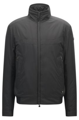 Veste Regular Fit en tissu technique, Noir