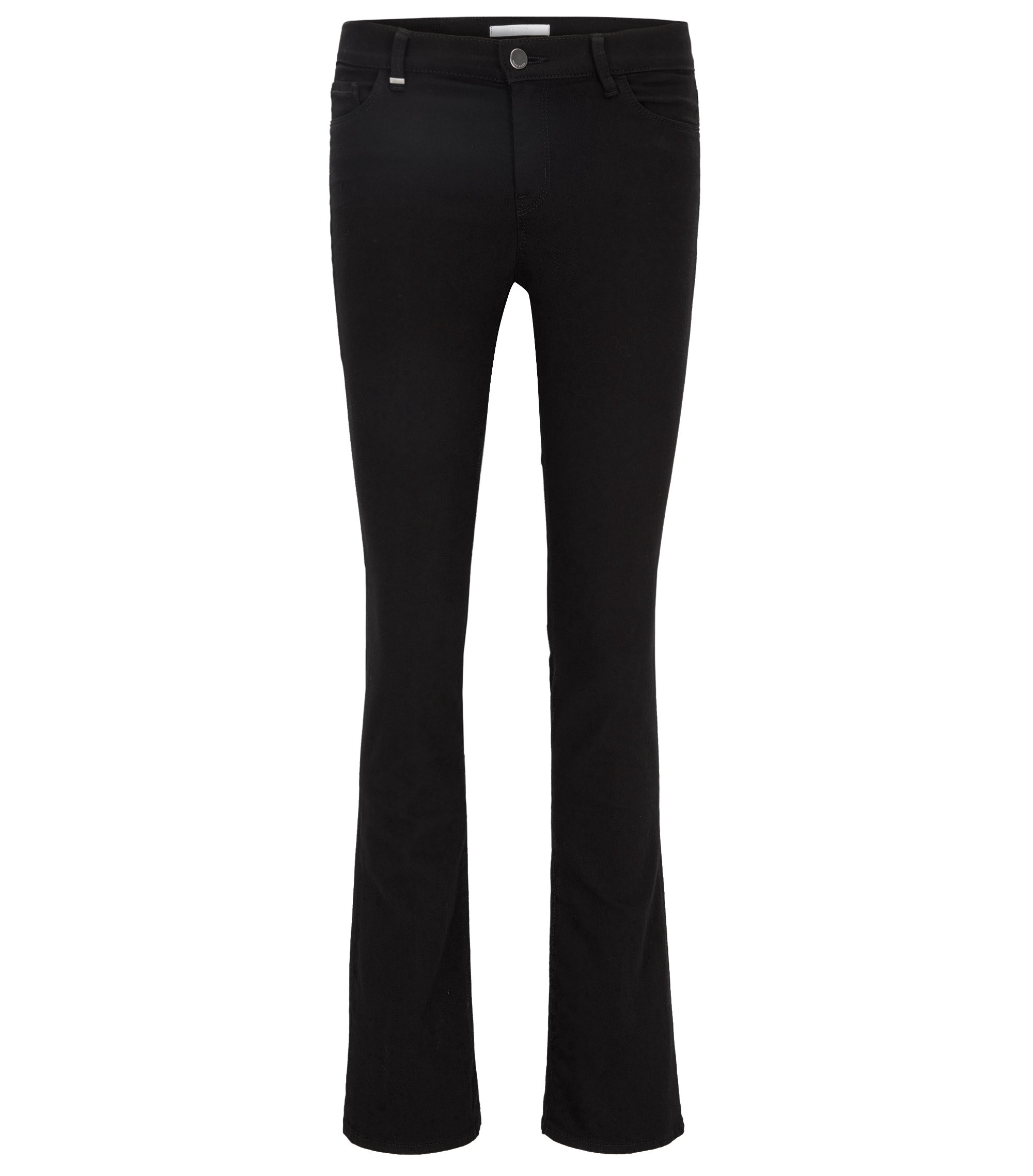 Slim-fit jeans van super-stretchdenim, Zwart