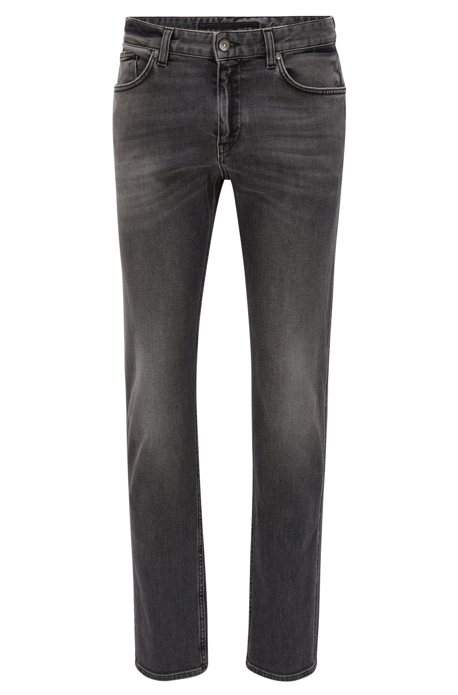Jeans slim fit in denim elasticizzato grigio dal lavaggio medio