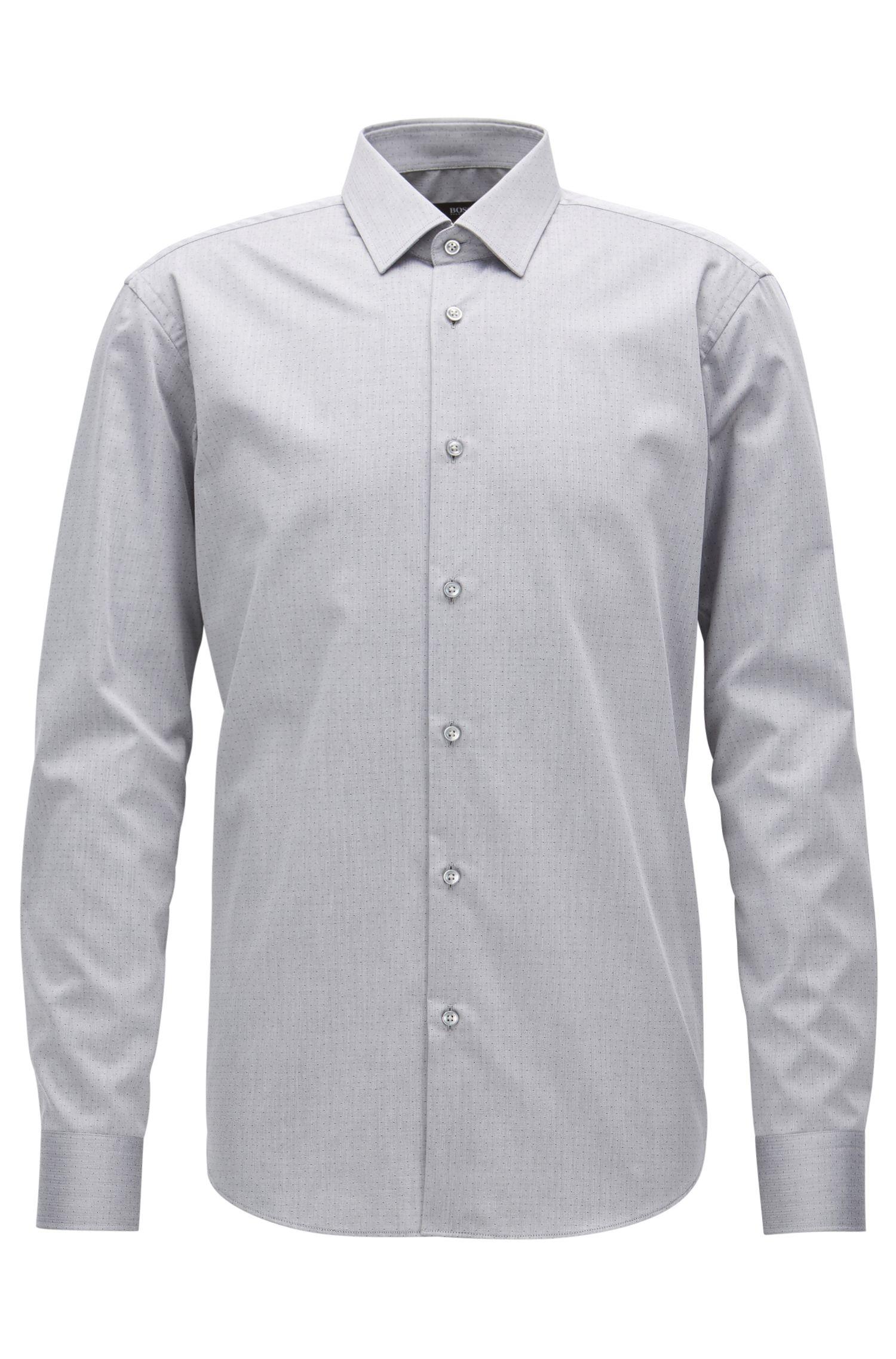 Regular-Fit-Hemd aus knitterfreier Baumwolle