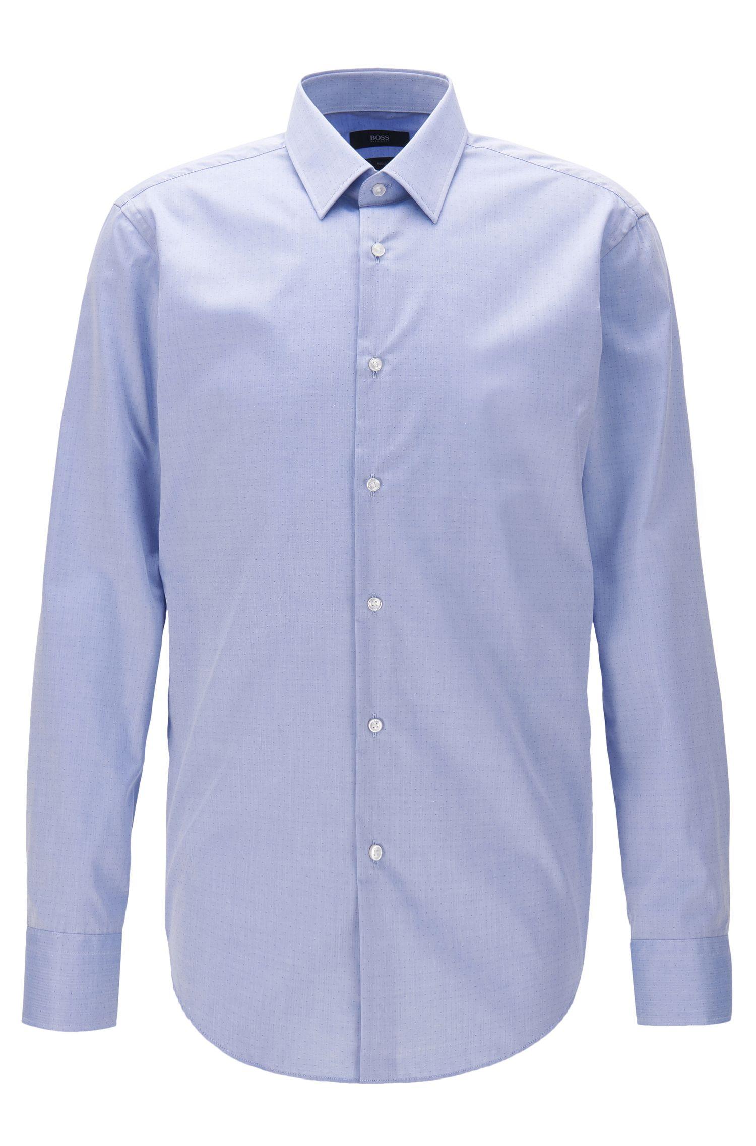 Regular-fit shirt in wrinkle-free cotton
