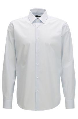 Camicia regular fit in puro cotone a righe, Celeste