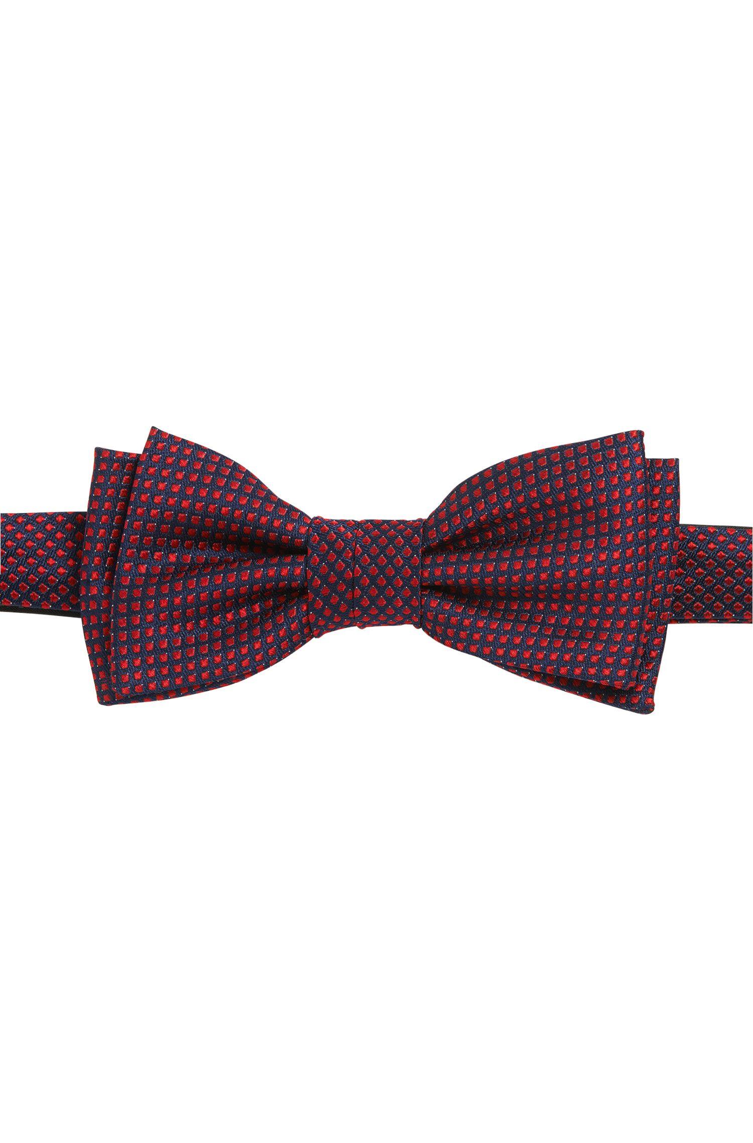 Micro-pattern silk bow tie