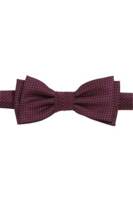 Micro-pattern silk bow tie, Red