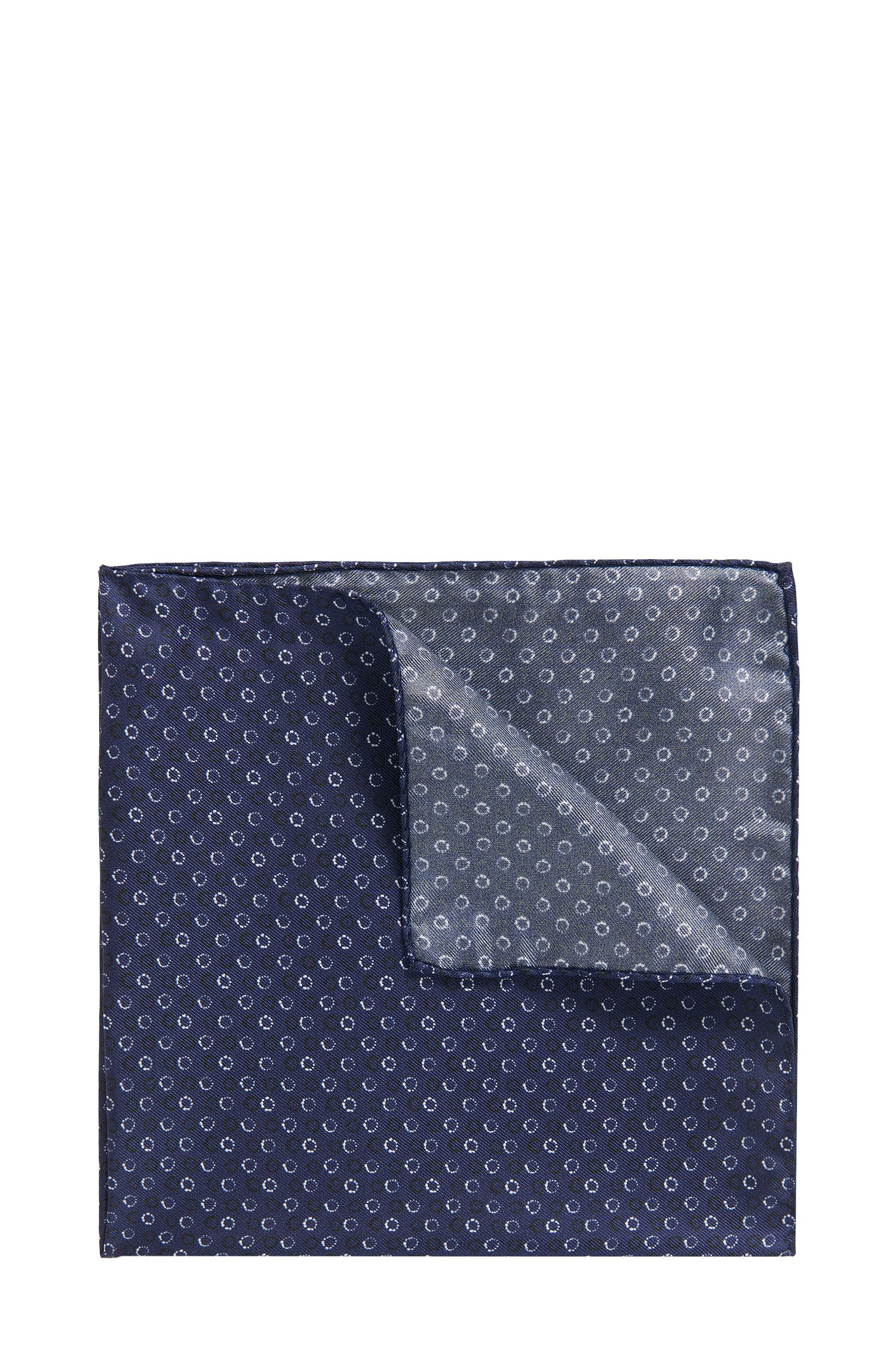 Graphic-print pocket square in silk