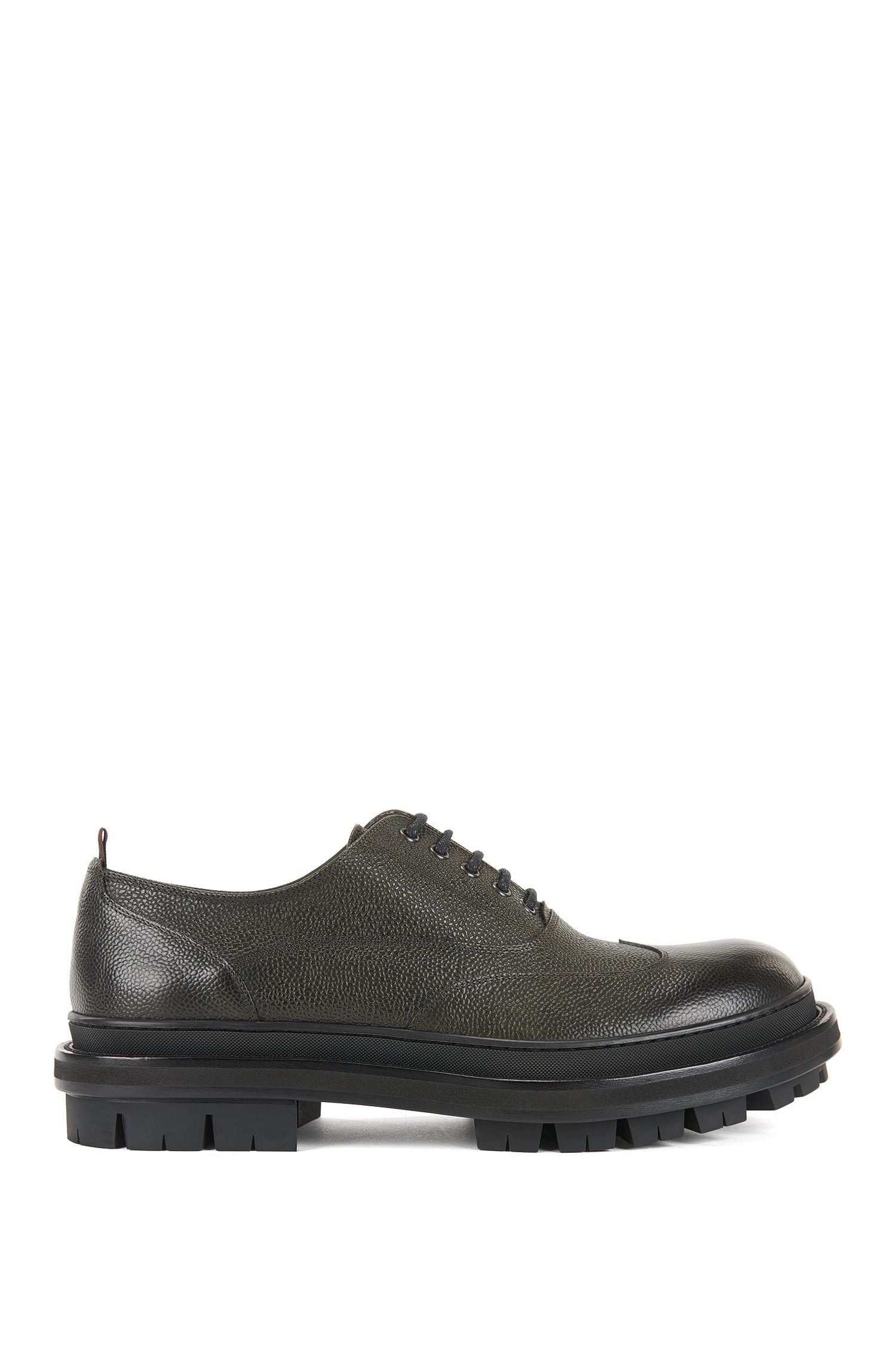 Scarpe Oxford in pelle martellata