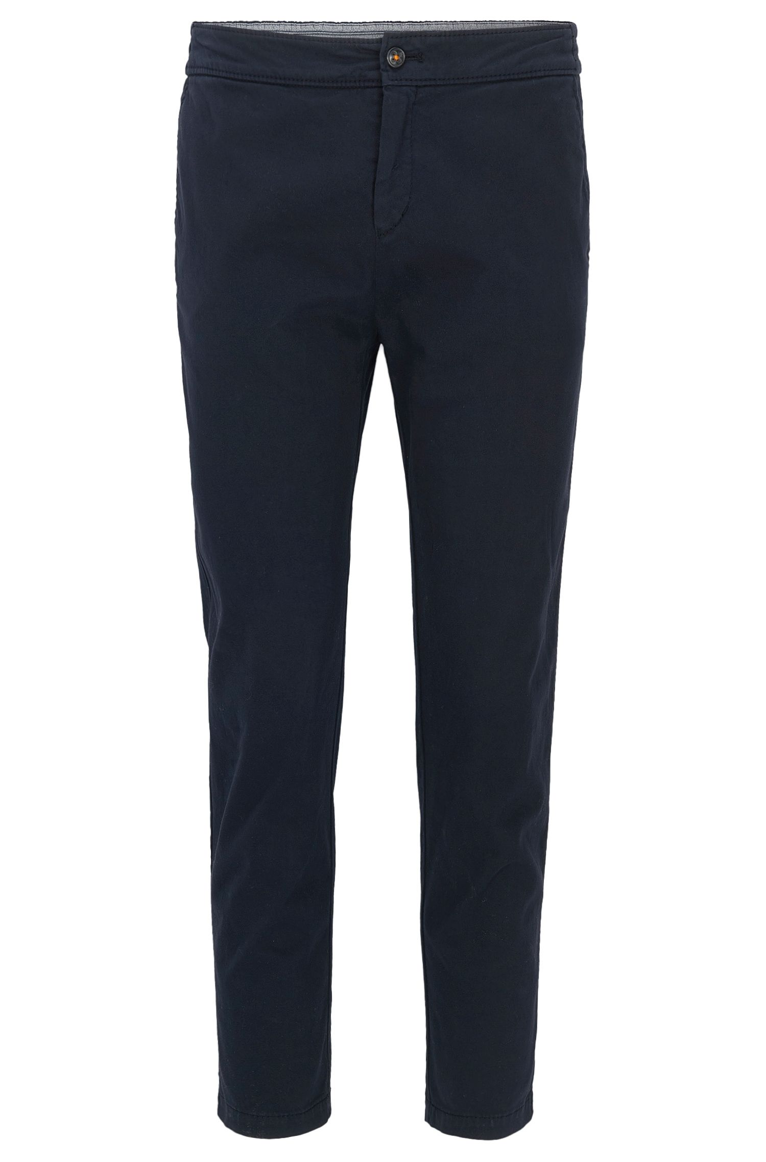 Regular-fit trousers in stretch cotton