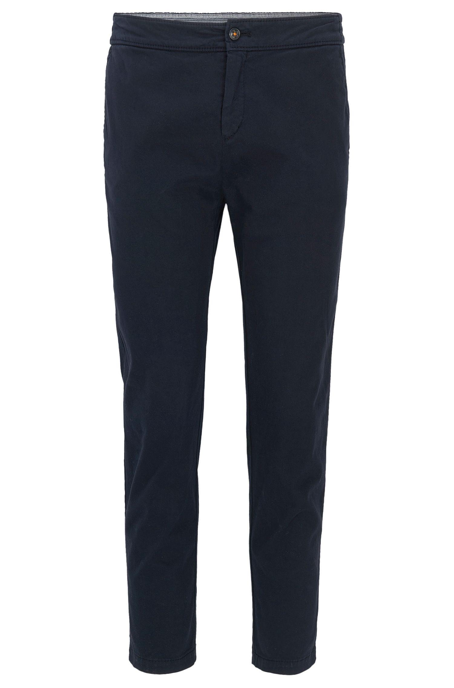 Pantaloni regular fit in cotone elasticizzato