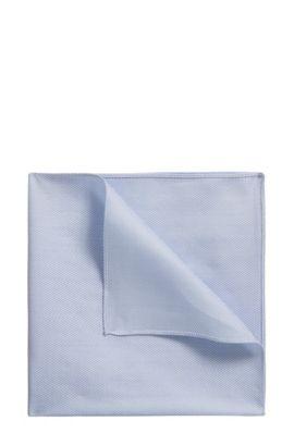Pañuelo de bolsillo de algodón en espiga, Celeste