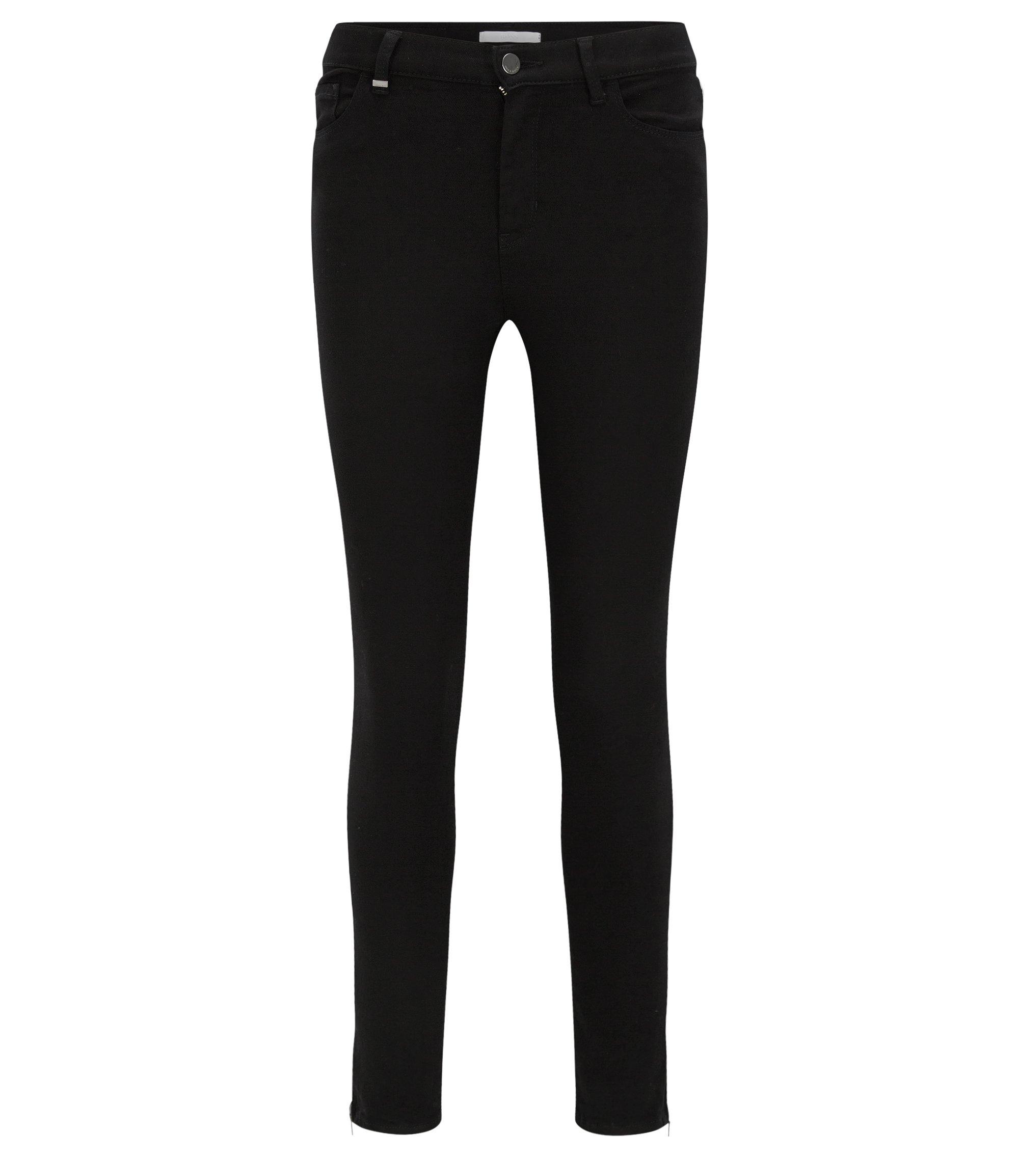 Slim-fit jeans in super-stretch denim, Black