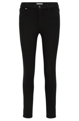 Jeans slim fit in denim super elasticizzato, Nero