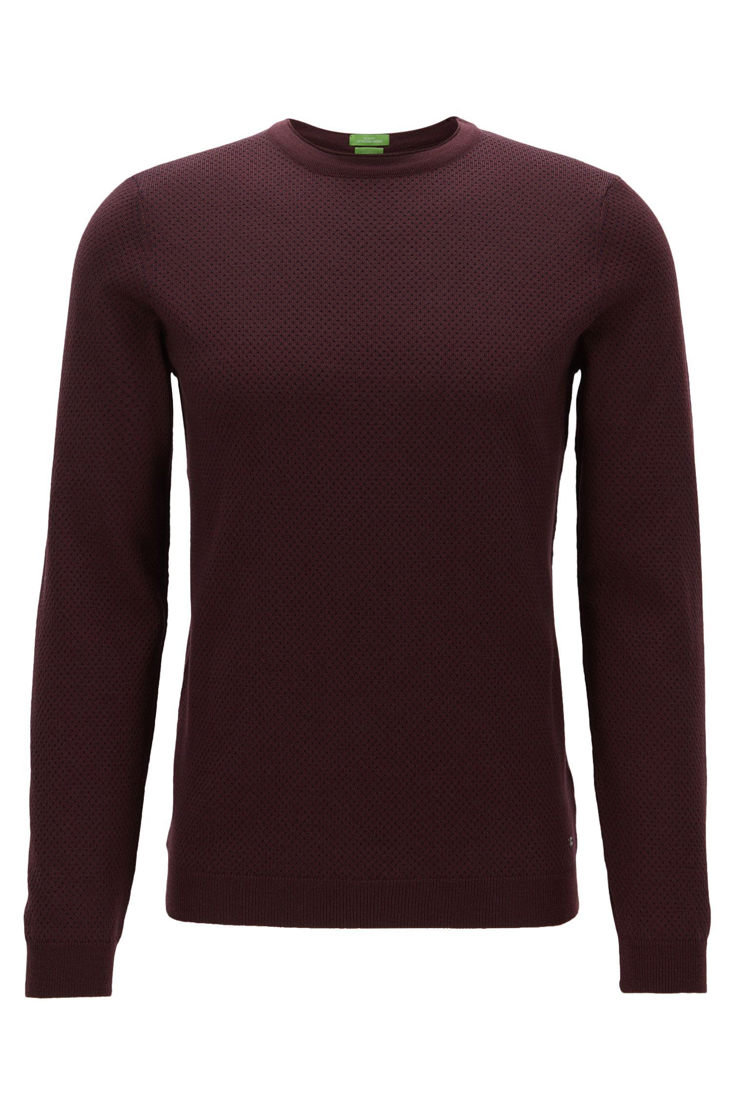 Jersey de escote redondo en lana virgen