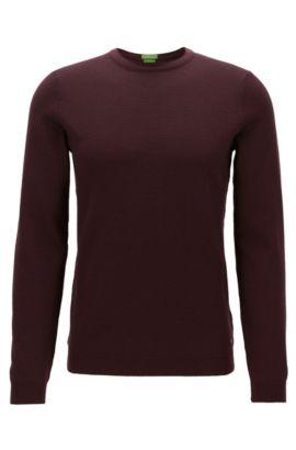 Maglione a girocollo in lana vergine, Rosso