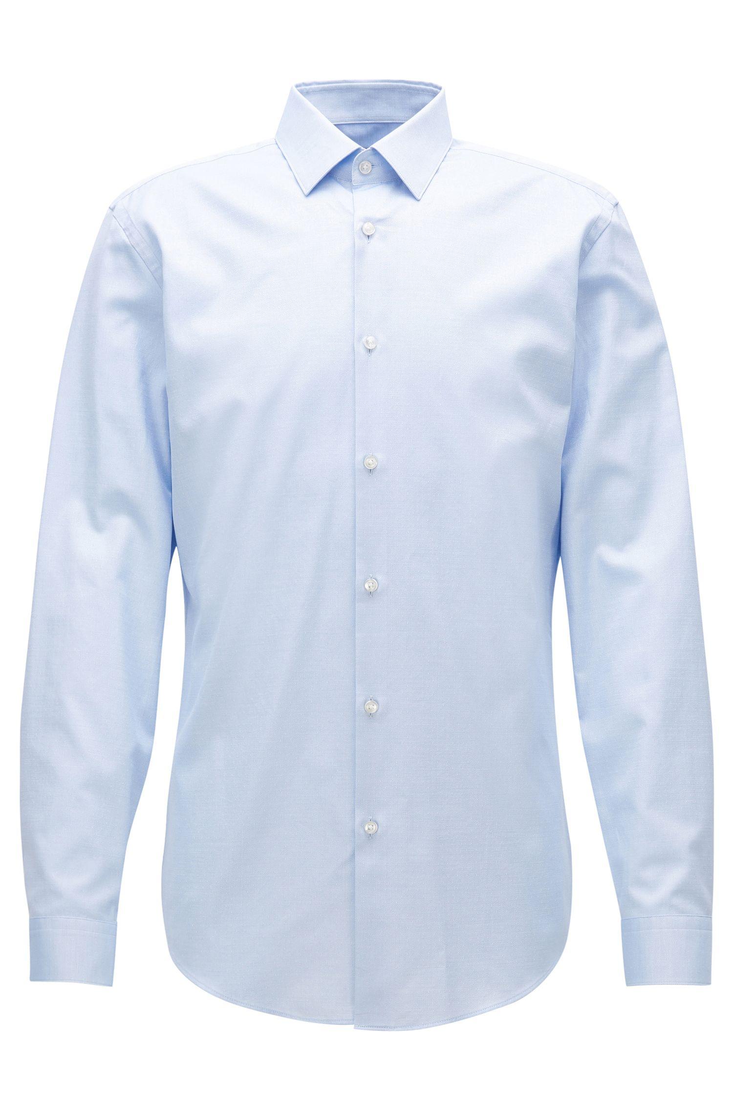 Slim-Fit-Hemd aus Baumwoll-Popeline